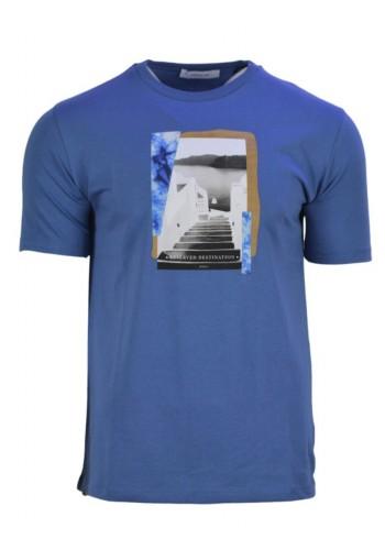 Men T-Shirt Hamaki-Ho 157H Blue