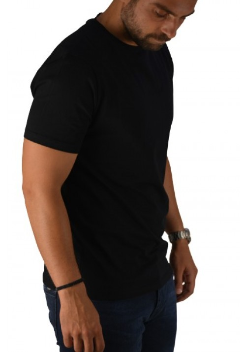 T-Shirt with Short Sleeves Hamaki-Ho TC2848H Black
