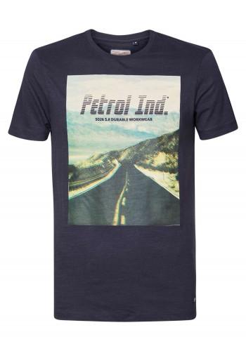 Men T-Shirt with print Petrol 511-5110 Dark navy