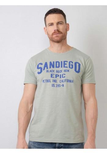 T-Shirt με logo τύπωμα Petrol 685 λαδί