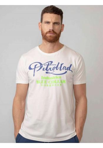 T-Shirt με Graphic τύπωμα Petrol λευκό