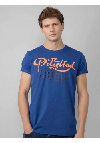 T-Shirt με Graphic print Petrol μπλέ
