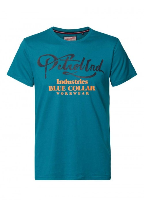 T-shirt με τυπωμένο σχέδιο Petrol πράσινο