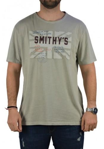 Aνδρικό t-shirt  Smithy's μπεζ