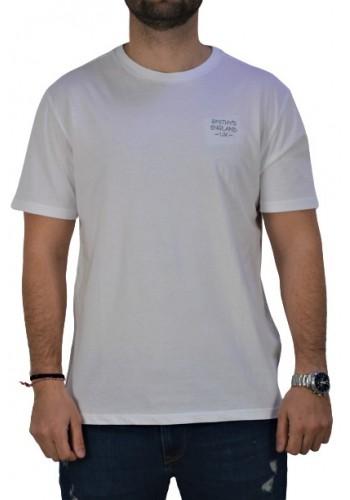 Ανδρικό T-Shirt με στάμπα στην πλάτη Smithy's λευκό