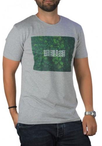 Ανδρικό t-shirt Stitch & Soul 23200 με στάμπα γκρι