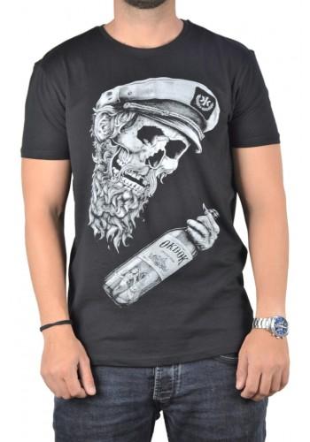 Ανδρικό t-shirt  photo print Sublevel μαύρο κοντομάνικο