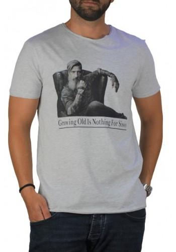 Ανδρικό T-Shirt με Graphic τύπωμα SUBLEVEL Γκρί