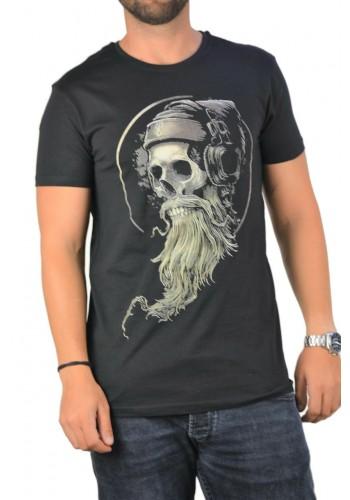 Ανδρικό t-shirt  photo print Sublevel μαύρο