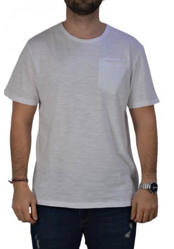 Aνδρικό τ-shirt Smithy's μονόχρωμο λευκό