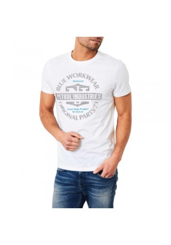 Aνδρικό t-shirt Petrol λευκό