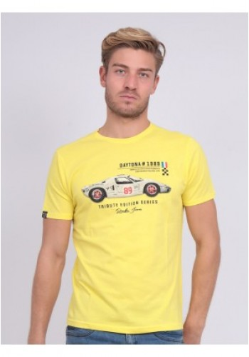 Aνδρικό T-Shirt με τυπωμένο σχέδιο Ritchie κίτρινο