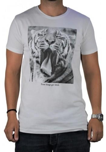 Ανδρικό t-shirt  photo print Stitch & Soul  λευκό κοντομάνικο