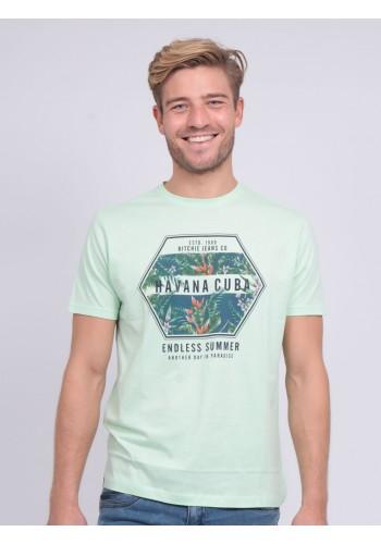 Aνδρικό t-shirt  Ritchie RT6544 πράσινο