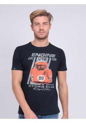 Ανδρικό T-Shirt με photo print Ritchie μαύρο