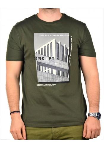 Aνδρικό T-shirt Tiffosi 895 λαδί
